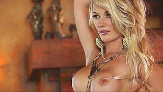 Beautiful blonde model Nikki du Plessis