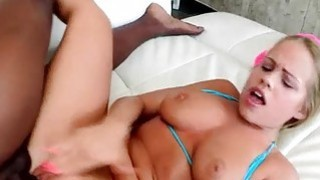 Teen Britney Young takes big black cock