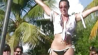 Horny Wet and public Pool Dancers