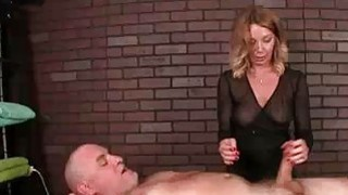 Milf Masseuse Teases Clients Cock With Vibrator
