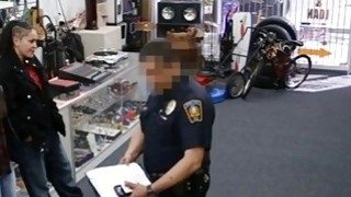 Two sluts try to steal and get pounded at the pawnshop