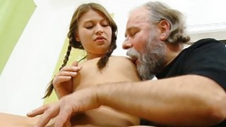 Horny old fucker enjoys sex with juvenile playgirl