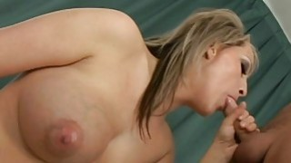 Pretty babe is hungry for weenie after dildo play