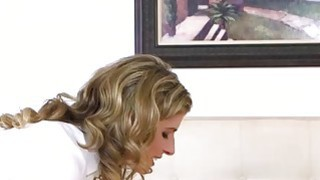 Amazing Cory Chase seduces a handsome dude in a bedroom