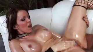 Rough anal fucking for bigbooty oiled slut