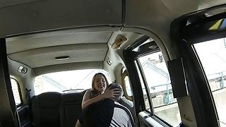 Hot redhead pounded by pervert driver in the backseat