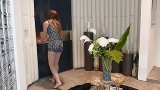 Horny stepmom Nina shares huge cock with Lexi