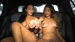 Backseat three-way banging
