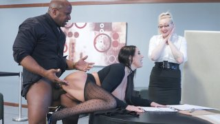 MILF Angela White in ripped pantyhose gets banged by Prince Yashua