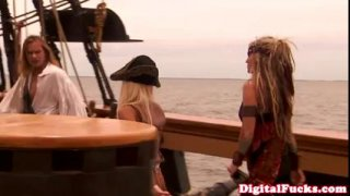 "Beautiful blonde pornstar Carmen Luvana in famous porn movie ""Pirates"""