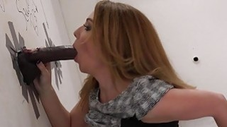 Kiki Daire Rides A Black Cock At A Glory Hole