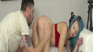 Skinny and sexy girl gets fucked blue