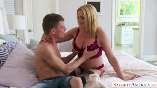 MILF Briana Banks Well-Cums Her Son's Friend Into Her Home