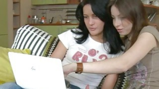 Lustful teen chicks want threesome