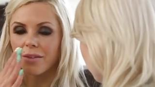 Stunning Blonde Chicks Having Great Lesbian Anal Action